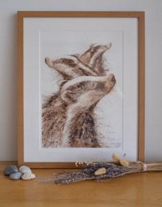walnut-badger-painting