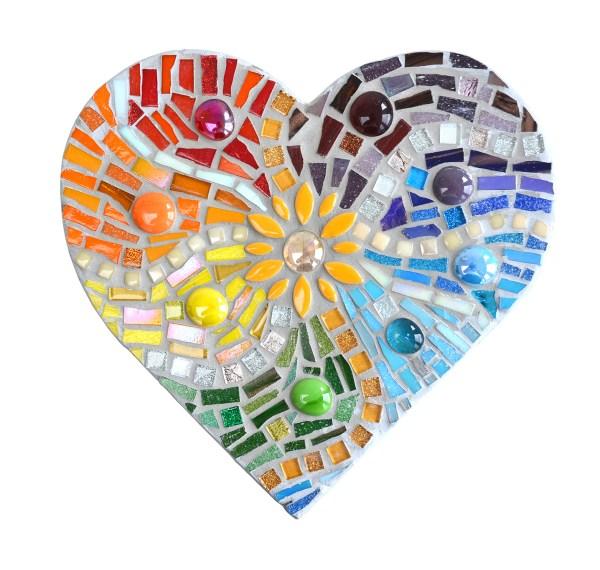 Rainbow Hearts Mosaic