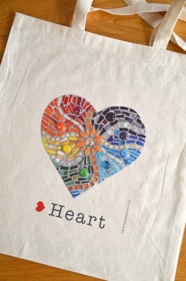 Rainbow heart bag 1