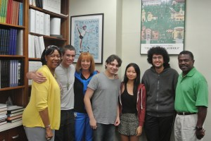 From left to right: Diane Hale, Robert Sears, Hanna Zylberberg, Max Stahl, Jessica Lu, Daniel Raban, Carter Paysinger