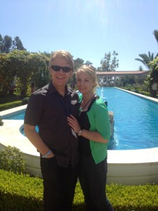 Deaver and her husband Cameron visit the Getty Villa.