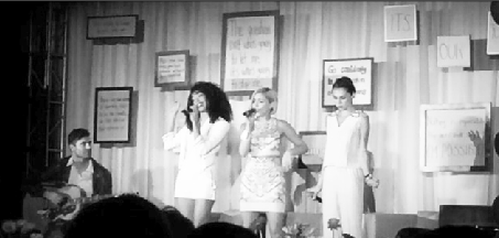 """X-Factor finalist Sweet Suspense opens the second keynote session with a harmonized performance of """"Irreplaceable"""" by Beyonce."""
