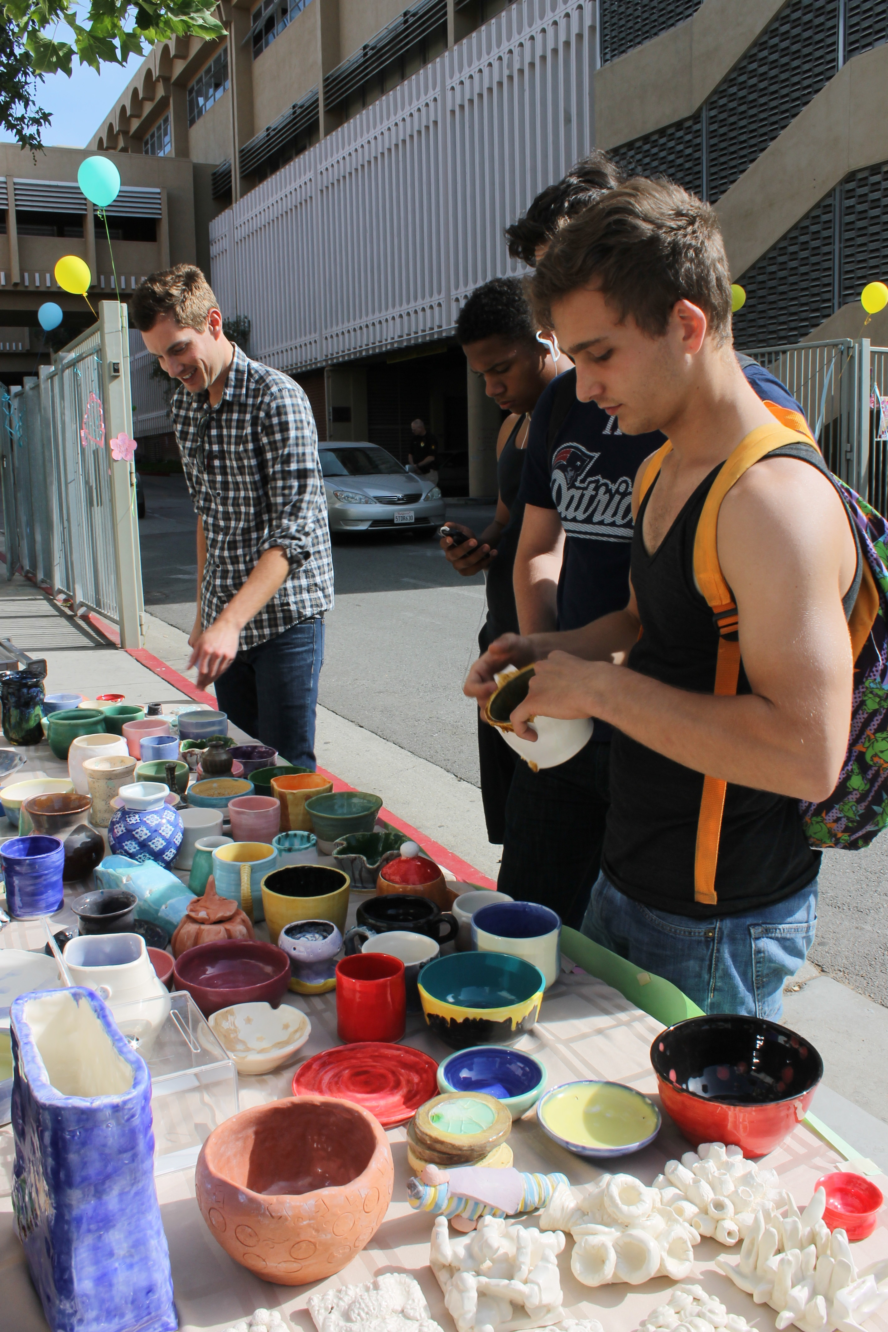 Ceramic goods were available for purchase at the Art Festival.