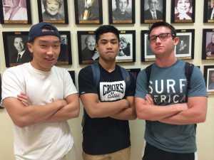 Club leaders Dan Park, Raven Castro and Cameron Flagel