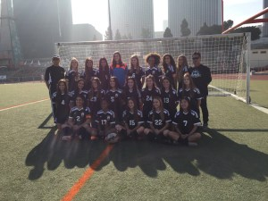 Girls varsity soccer poses for their team picture. Photo Courtesy: Carli Stein