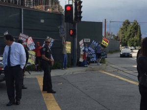 Westboro Baptist Church pickets infront of students and administrators.