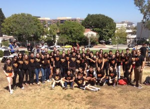 ASB members pose after a pep rally on the front lawn last year. ASB members are some of the few Normans who consistently show Norman Pride. Photo courtesy of: MAYTAL SARAFIAN