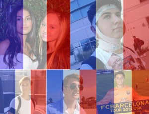 Various Beverly students apply the tricolour flag to their profile pictures. Photo compilation by: KEITH STONE