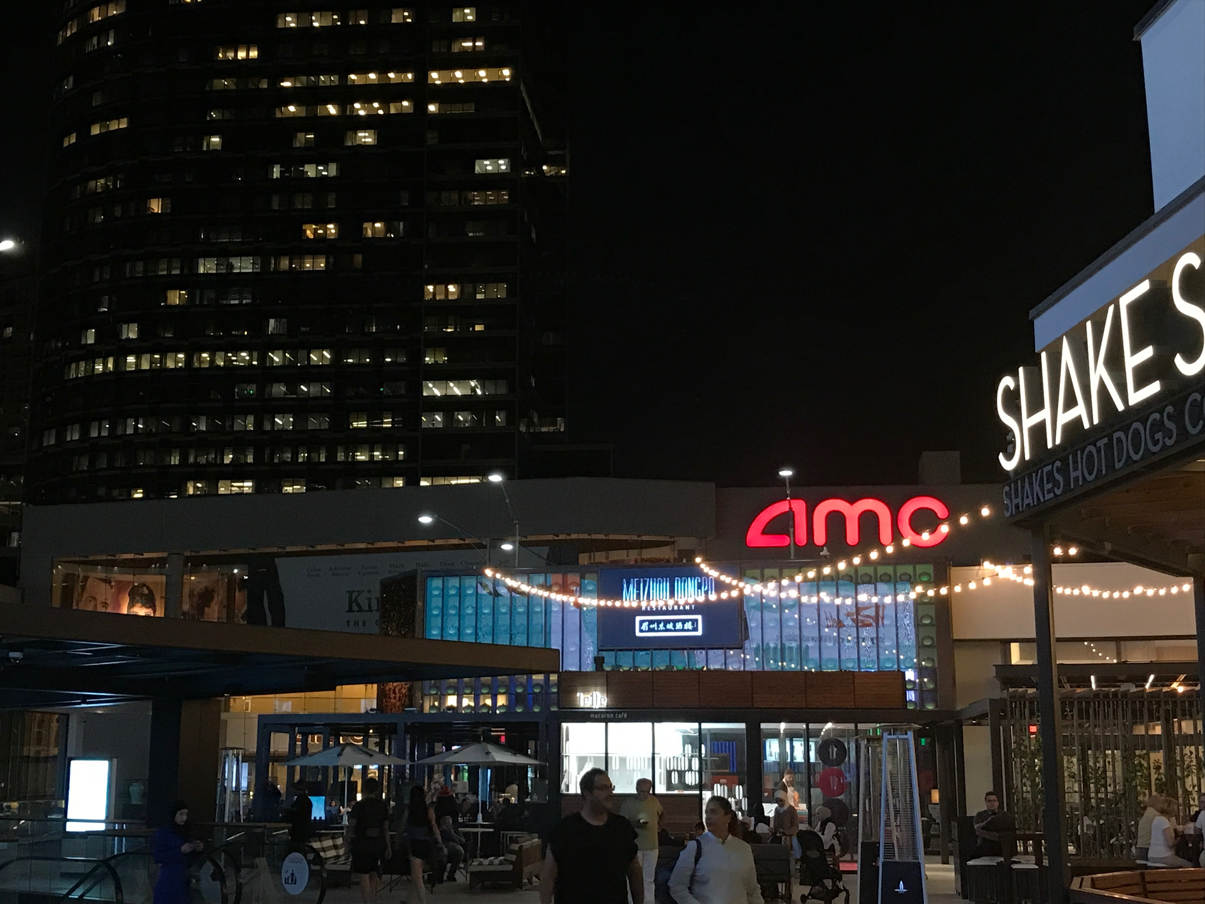 The movie theater lies just steps from the remodeled food court.