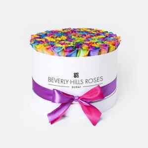 "Roses Online Order ""Candy Crush"" in Medium White Box"