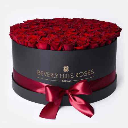 Large black rose box in Hollywood