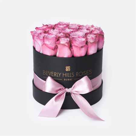 Small black rose box in candy