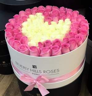 """100 Roses """"Charm"""" in Large White Box"""