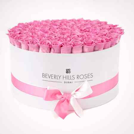 Large white rose box in babygirl