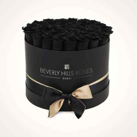 Black medium rose box in fantasy