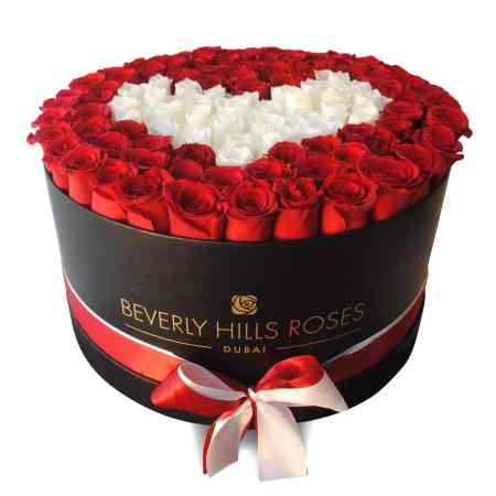 Large black rose box in pure love