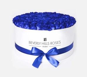 Luxury Blue rose box bouquet