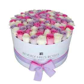 "Flower Shop in Dubai "" Fairy Tale"" in Large White Rose Box"