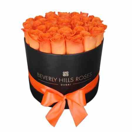 """Medium Black Rose Box in """" Sunset"""""""