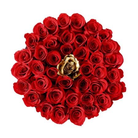 Medium black rose box in Golden Eye