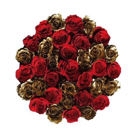 "Medium Black Rose Box in "" Hollywood Star"""