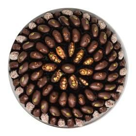 Mirzam ramadan Dark Chocolate Dates Tray in 'Nuts & Seeds'