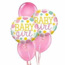 New Baby Girl Balloon Bouquet