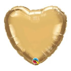 Gold Heart foil Balloon