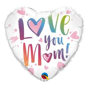 Love you Mom pink Foil Balloon