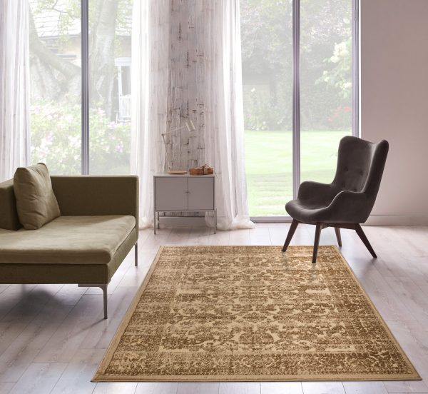 Beverly rug bella collection traditional area rug 00961a mustard beige