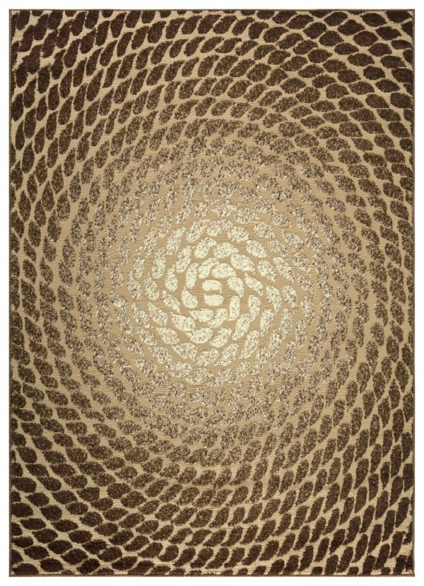Beverly rug bella collection modern abstract area rug 00967a beige brown