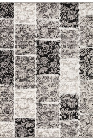 Beverly Rug Princess Collection Geometric Patchwork Area Rug 180 Grey and Light Grey