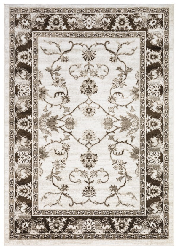 Beverly Rug Regal Collection Timeless Classic Traditional Area Rug 179 brown bone