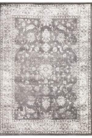 Beverly Rug Regal Collection Vintage Oriental Medallion Area Rug 169 bone and grey