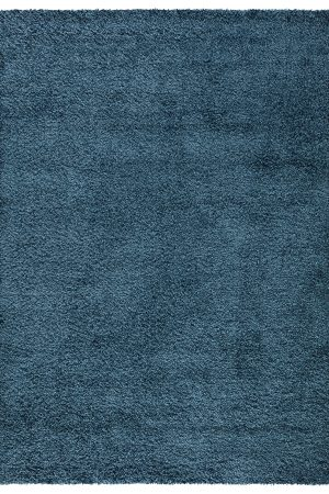 Beverly Rug Vienna Collection Modern Shaggy Area Rug 9000 blue