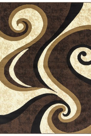 beverly rug Princess Collection Geometric Swirl Abstract Area Rug 808 cream brown