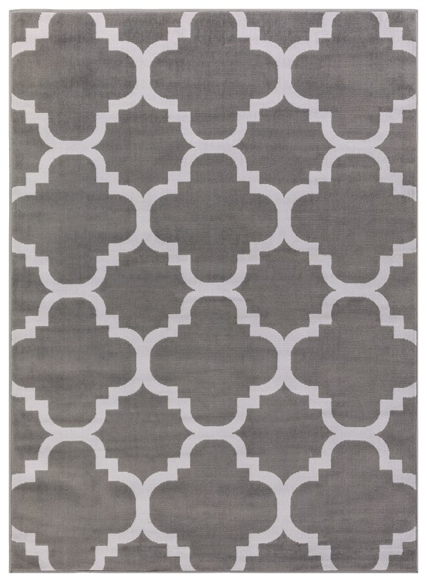 beverly rug princess collection moroccon trellis lattice area rug 810 light grey