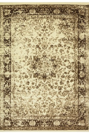 beverly rug princess collection vintage oriental area rug 814 brown cream