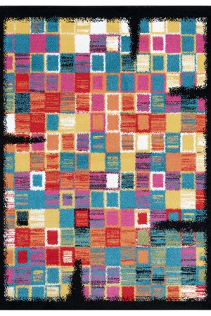 Beverly rug queen collection multi color modern and abstract area rug 1713