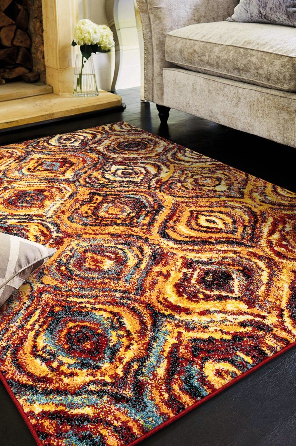 Beverly rug queen collection multi color modern and abstract area rug 2803