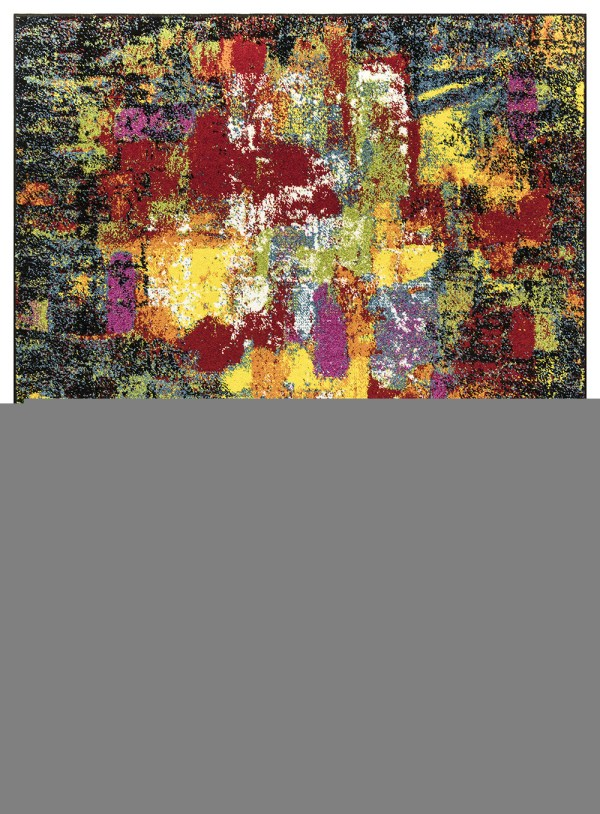 Beverly rug queen collection multi color modern and abstract area rug 2808