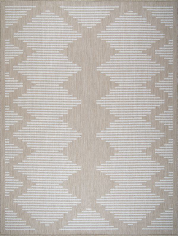 Beverly Rug Waikiki Collection Indoor/Outdoor Area Rug - Beige/White