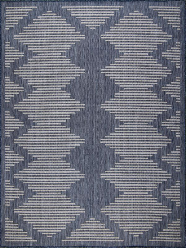 Beverly Rug Waikiki Collection Indoor/Outdoor Area Rug - Blue & White