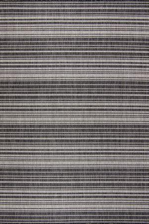 Waikiki Collection Indoor/Outdoor Stripes Area Rug - Pebble Grey & White