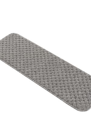 """Beverly Rug Solid Color Indoor Carpet Stair Treads 8.5""""x26"""" Gray"""