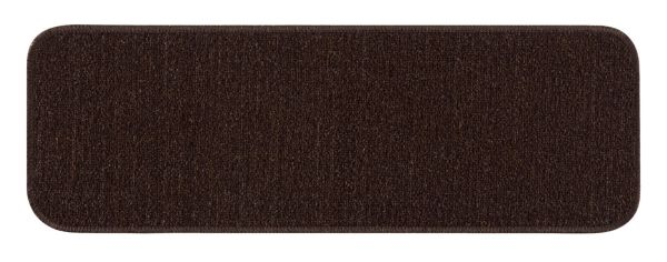 "Beverly Rug Solid Color Indoor Carpet Stair Treads 8.5""x26"" Brown"