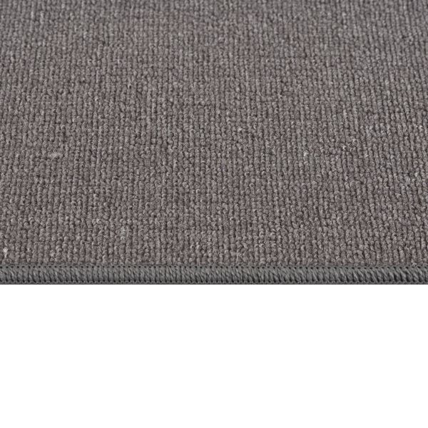 "Beverly Rug Solid Color Indoor Carpet Stair Treads 8.5""x26"" Gray"
