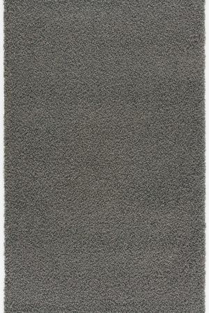 Malibu Collection Modern Shaggy Area Rug - Smoked Grey