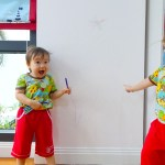DULUX WASH & WEAR PAINT: my kids scribbled on the wall, and lived to tell the story