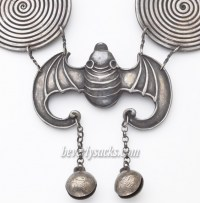 Hmong Silver Bat Neck Ring Necklace - Beverly Sacks
